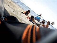 Heiße französische Teenager nackt am Strand