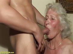 nonna pelosa nel suo primo video porno