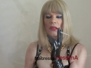 Lingerie Shemale Hd Videos Ladyboy Shemale video: SEXY SMOKING  IN PVC