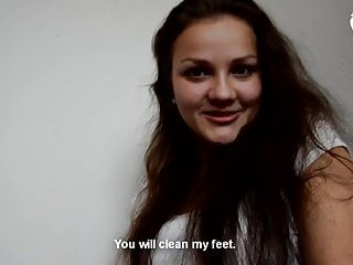 Pov Foot Fetish Girl video: Bratty young girl foot worship - POV - CzechSoles.com teaser