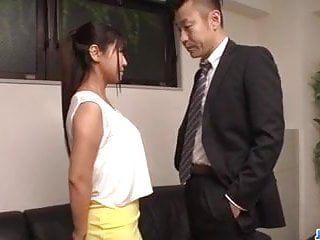 Asian Japanese Big Tits video: Ravishing fuck at the office along Yu  - More at javhd.net