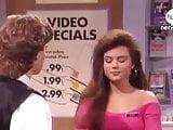 Tiffani Thiessen on Blossom in 1992.  No Bra, short Dress