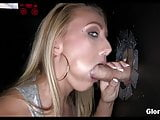 Blonde has a lot of fun at Gloryhole