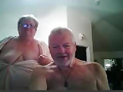 husband and wife on webcam