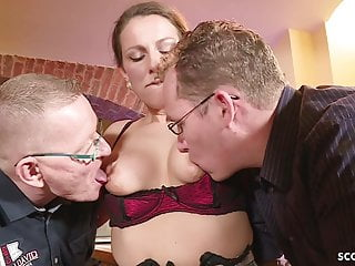 .GERMAN BIG TIT MILF SEDUCE FUCK ANAL IN BIG DICK THREESOME.