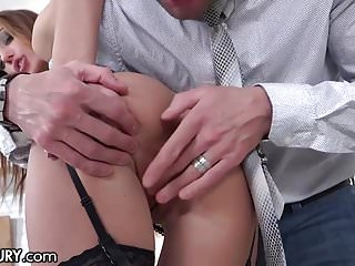 Gaping Russian Lingerie video: 21Sextury Training Hazel Dew's Gape to Take Big Cocks