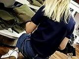 Candid Voyeur- Skinny Cute Blonde Teen in Jeans