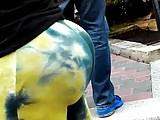 Crazy Bubble Ass Mature Spanish Lady Leggings