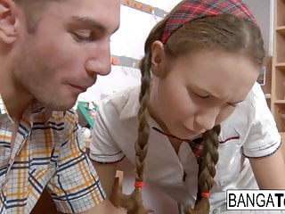 Teen Cumshot Hd Videos video: Sweet schoolgirl takes her boyfriend's cock in every hole