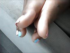 Hood MILF Pink & Blue Toes