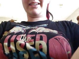 Teen Big Tits Redhead video: teen show her nice saggy boobs