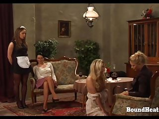 Bdsm Lesbian Bondage video: On Consignment 3: Lesbian Mistress Bounds And Brands Slave