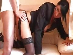 Big Boobs Secretary fucks Manager in couch