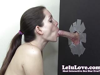 Hardcore Glory Holes Lelu Love vid: Lelu Love-First Time Gloryhole Blowjob Facial