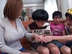 Busty Japanese MILF loves young cock....
