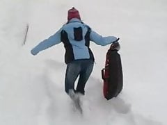 Dziewczyny w śniegu