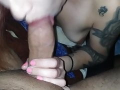 Redhead Latina Girlfriend Blowjob Część 1