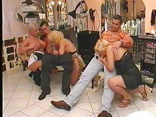 Blonde Blowjob Cumshot video: Nymphomane Friseusen 2000