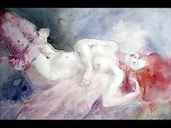 Sensuali dipinti erotici di Emilia Castaneda