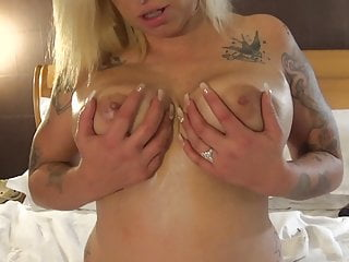 Lingerie Blonde Big Ass video: I Want a Ten Inch Strap ON Now.