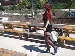 Strümpfe im Freien