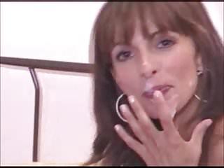 Brunettes Facials Pov video: Sexy cumplay pov -say good bye