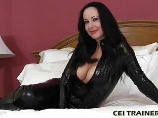 Femdom Cumshot Cum In Mouth video: I will trick you into eating your own cum CEI