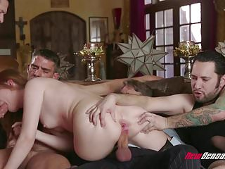 Big Cock Wife Rough Sex video: Hotwife Maya Kendrich Gangbang While Hubby Watches