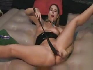 Self fuck, self whip and squirt