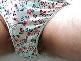 White & Green Cotton Knickers 3