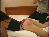 Spanked & Groped Females: On the bed
