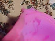 pink bra cum