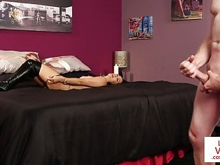 Hd Videos video: Naughty dominant Brit instructing jerkoff
