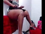 BBW ebony striptease in webcam