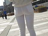 tight teen ass white jeans