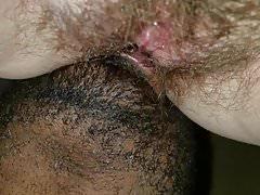 Essen eine fette behaarte Muschi
