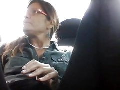 la mia ragazza in macchina