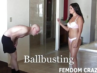 Femdom Spanking Pov video: You are a fat disgusting excuse for a man