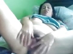 Filipino Oma 58 fickt mich dumm vor der Kamera. (Manila) 2