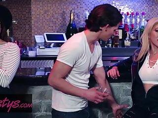 Lesbian Orgasm Sex Toy video: When Girls Play - Cristi Ann - Muff Dive Bar - Twistys