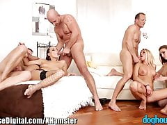 DogHouse Euro Babes Swingers Orgía