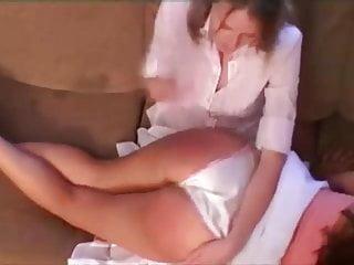 Cotton panty wedgie spank spanking ebony booty and skirt
