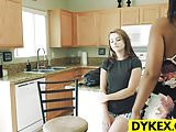 Lesbian girls Karlie Brooks and Luzbel