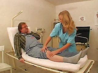 Stockings Teen Blonde video: NMLN Weird Old Bloke Gets First Class Nurse !