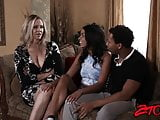 MILF stunner Julia Ann shares thick BBC with Latina babe
