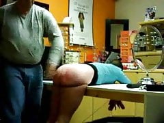Spanked in the store after work