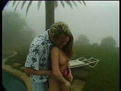 Brunette beauty gets her pussy licked on a foggy day then fucks