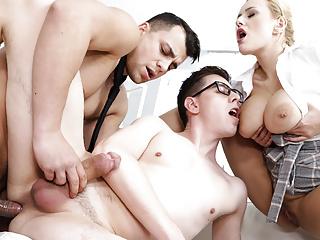 Anal,Hardcore,Czech,Blonde,Big Tits,Big Ass,Bisexual,Secretary,Piercing