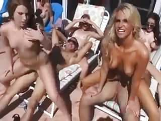 Outdoor Pool Orgy video: Pool Orgy