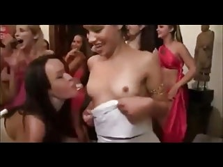 College girls toga party